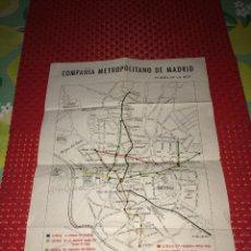 Collezionismo Biglietti di trasporto: COMPAÑÍA METROPOLITANO DE MADRID - PLANO DE LA RED - AÑO 1956. Lote 293835383