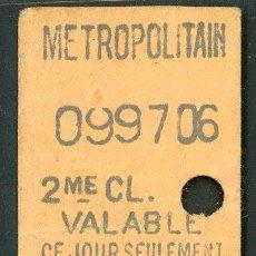 Colecionismos Bilhetes de Transporte: BILLETE DEL METRO DE PARIS // FRANCIA ( S25). Lote 293950773