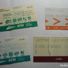 Coleccionismo Billetes de transporte: LOTE BILLETES RENFE. Lote 295383868