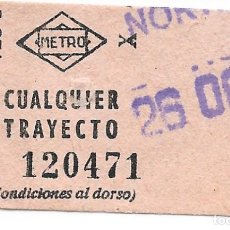 Colecionismos Bilhetes de Transporte: BILLETE METRO MADRID ESTACION NORTE. Lote 295709218