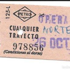 Colecionismos Bilhetes de Transporte: BILLETE METRO MADRID ESTACION OPERA. Lote 295709448