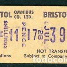 Coleccionismo Billetes de transporte: BILLETE DE BRISTOL OMNIBUS CO.LTD - REINO UNIDO (S28). Lote 295834433
