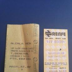 Coleccionismo Billetes de transporte: BILLETE TREN CERCANIAS MADRID. Lote 295922473