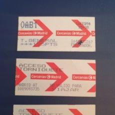 Coleccionismo Billetes de transporte: BILLETES CERCANIAS MADRID. Lote 295923613