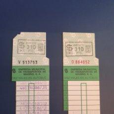 Coleccionismo Billetes de transporte: BONO BUS MADRID EMT 310 PESETAS 10 VIAJES. Lote 295926438