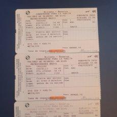 Coleccionismo Billetes de transporte: BILLETE RENFE ATOCHA PREFERENTE + FACTURA PAGO CORTE INGLÉS. Lote 295933993