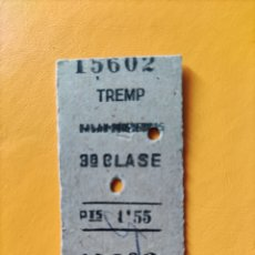 Coleccionismo Billetes de transporte: BILLETE PALAU- PUIGCERDA- 3RA CLASE. Lote 295989268