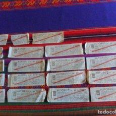 Coleccionismo Billetes de transporte: 19 BILLETE DE AUTOBUS EMT MADRID PARA USO EXCLUSIVO DE VIAJEROS CON TARJETA ESPECIAL DE TRANSPORTE.. Lote 296586998