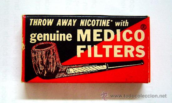MEDICO FILTERS - LLEVA TRES FILTROS (Coleccionismo - Objetos para Fumar - Boquillas )