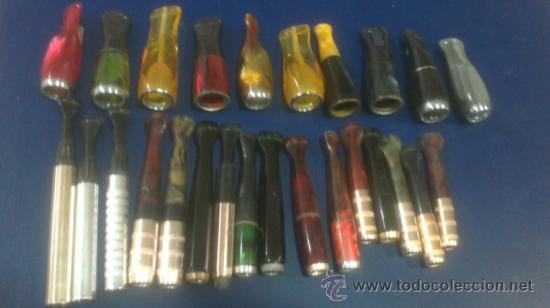 LOTE COLECCION DE ANTIGUAS BOQUILLAS DE TABACO AÑOS;60..25 DIFERENTES (Coleccionismo - Objetos para Fumar - Boquillas )