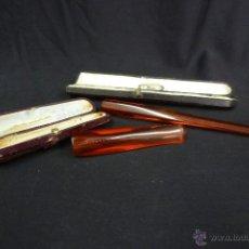 Boquillas de colección: PAR DE BOQUILLAS CON SUS ESTUCHES ORIGINALES. Lote 39939549