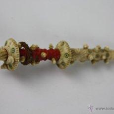 Boquillas de colección: BOQUILLA DE NARGUILE EN MARFIL TALLADO Y POLICROMADO, FINALES S. XIX. Lote 40261937