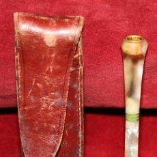 Boquillas de colección: INTERESANTE BOQUILLA EN CAREY BLANCO O SIMILAR CON SU ESTUCHE ORIGINAL. CIRCA 1950. Lote 51301540