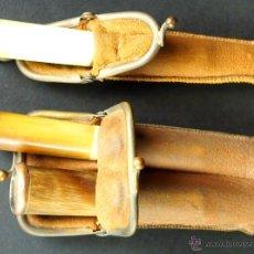 Boquillas de colección: LOTE DE TRES BOQUILLAS. ASTA DE TORO. DOCTOR BROW (N?). FRANCIA (?) XIX-XX.. Lote 49980104