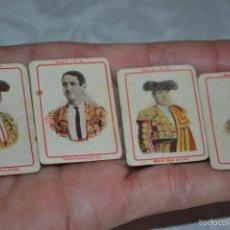 Boquillas de colección: BONITOS 4 COROMOS DE TOREROS DE LA SERIE 12,PRINCIPIOS DE S. XX. Lote 55573787