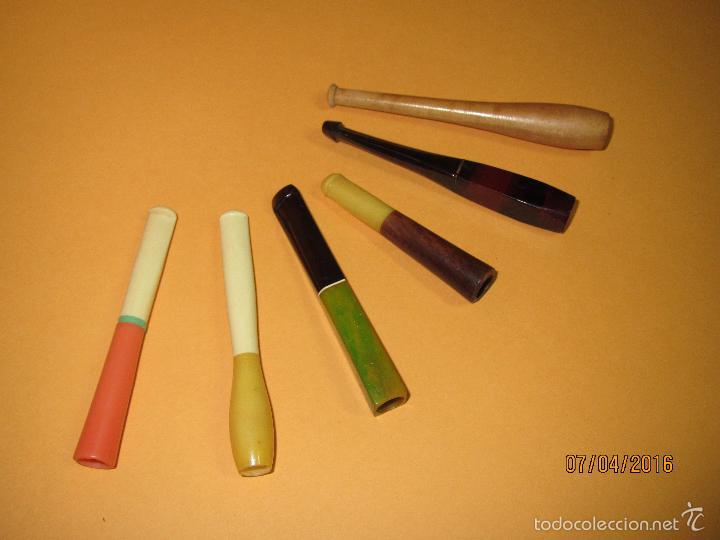 Boquillas de colección: Antiguas y Artisticas Boquillas Cigarrillos Fabricada en Materiales Nobles a Estrenar - Año 1960s. - Foto 2 - 56031141