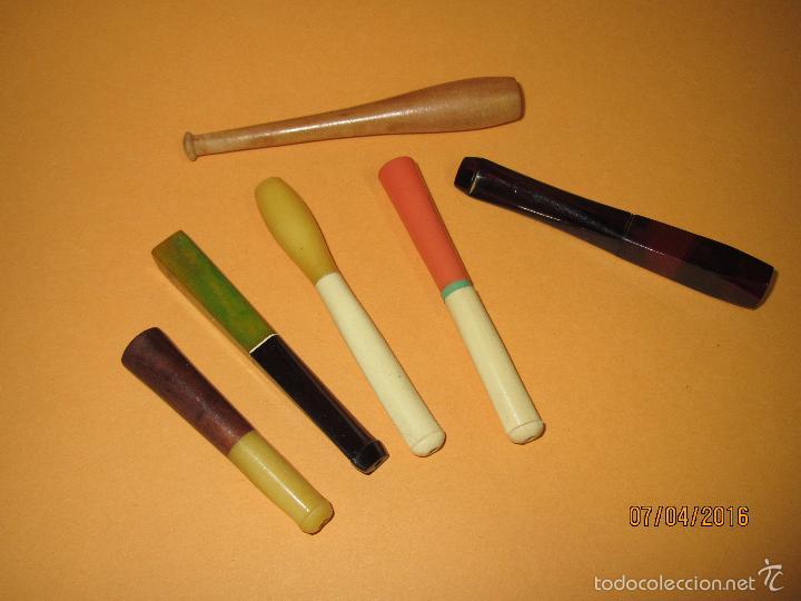 Boquillas de colección: Antiguas y Artisticas Boquillas Cigarrillos Fabricada en Materiales Nobles a Estrenar - Año 1960s. - Foto 3 - 56031141