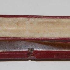 Boquillas de colección: BOQUILLA PARA CIGARRILLOS. ÁMBAR Y ORO 9KT. CAJA ORIGINAL. ESPAÑA. PRINC. S. XX. Lote 60854831