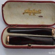 Boquillas de colección: PAREJA DE BOQUILLAS AMBERIT, C.B. PRINCIPIOS S.XX.. Lote 89420376