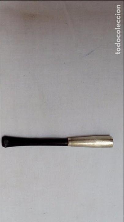 BOQUILLA DE PLATA Y BAQUELITA- (Coleccionismo - Objetos para Fumar - Boquillas )