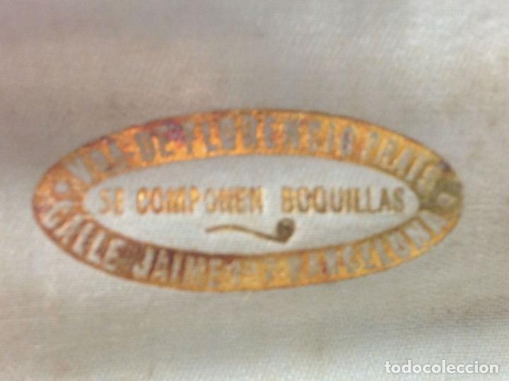 Boquillas de colección: 2 BOQUILLAS. BAQUELITA Y PLATA. VDA. DE FLORENCIO PRATS. ESPAÑA. SXX. - Foto 6 - 100132663