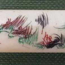Boquillas de colección: BOQUILLA PARA CIGARROS. HUESO TALLADO. PINTADO A MANO. JAPÓN. SIGLO XX. . Lote 120872847