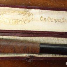 Boquillas de colección: BOQUILLA FRANCESA PARA FUMAR. OR CONTRÔLÉ. EN ESTUCHE ORIGINAL. Lote 128887414