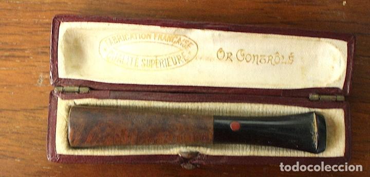 Boquillas de colección: BOQUILLA FRANCESA PARA FUMAR. OR CONTRÔLÉ. EN ESTUCHE ORIGINAL - Foto 2 - 128887414