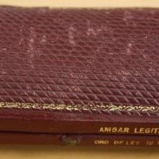 Boquillas de colección: CAJA EN PIEL GRANATE PARA BOQUILLA DE AMBAR. Lote 129148451