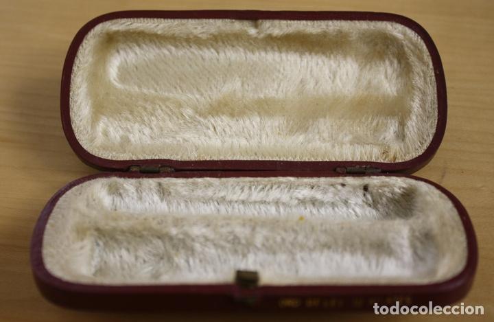 Boquillas de colección: CAJA EN PIEL GRANATE PARA BOQUILLA DE AMBAR - Foto 2 - 129148451