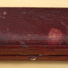 Boquillas de colección: CAJA EN PIEL GRANATE PARA BOQUILLA AMERICANA LAKOR DE AMBAR. Lote 129149223