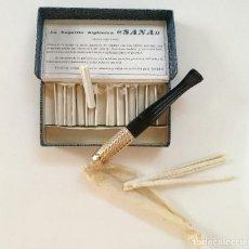 Bocchini di collezione: ANTIGUA BOQUILLA PARA FUMAR Y FILTROS EN CAJA // BOQUILLA HIGIENICA ((SANA)) SANA TABACOS. Lote 133655094