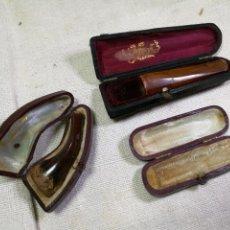 Boquillas de colección: LOTE 3 ESTUCHES CON BOQUILLAS DETERIORADAS. Lote 133739998