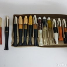 Boquillas de colección: LOTE DE 15 BOQUILLAS PARA CIGARRO / DE LOS AÑOS 60 / NUEVAS!!!!!, TODAS DIFERENTES.. Lote 180976117