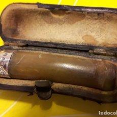 Boquillas de colección: BOQUILLA CON CONTRASTES EN PLATA PARA FUMAR. Lote 186277697