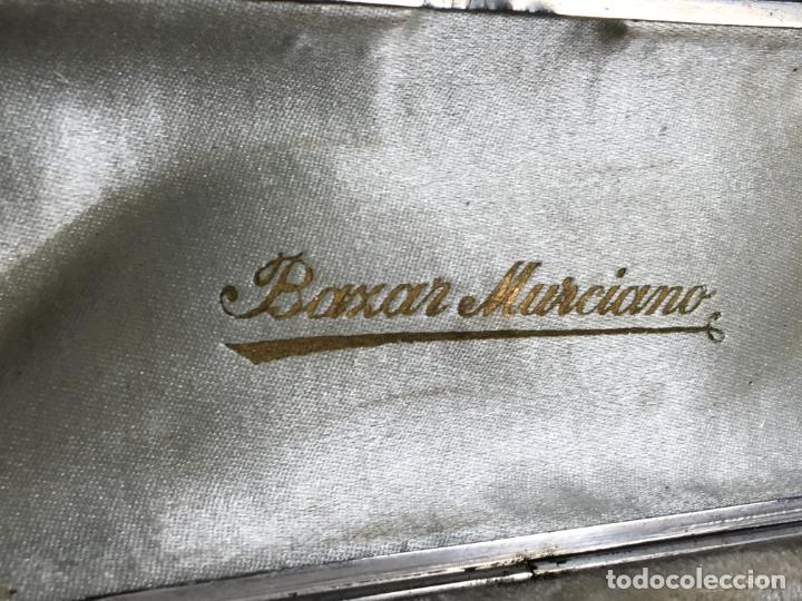 Boquillas de colección: Caja de madera con dos boquillas para pipa, puede ser ambar y el metal marcado. Bazar Murciano - Foto 6 - 187206098