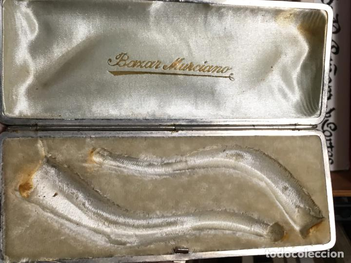 Boquillas de colección: Caja de madera con dos boquillas para pipa, puede ser ambar y el metal marcado. Bazar Murciano - Foto 8 - 187206098