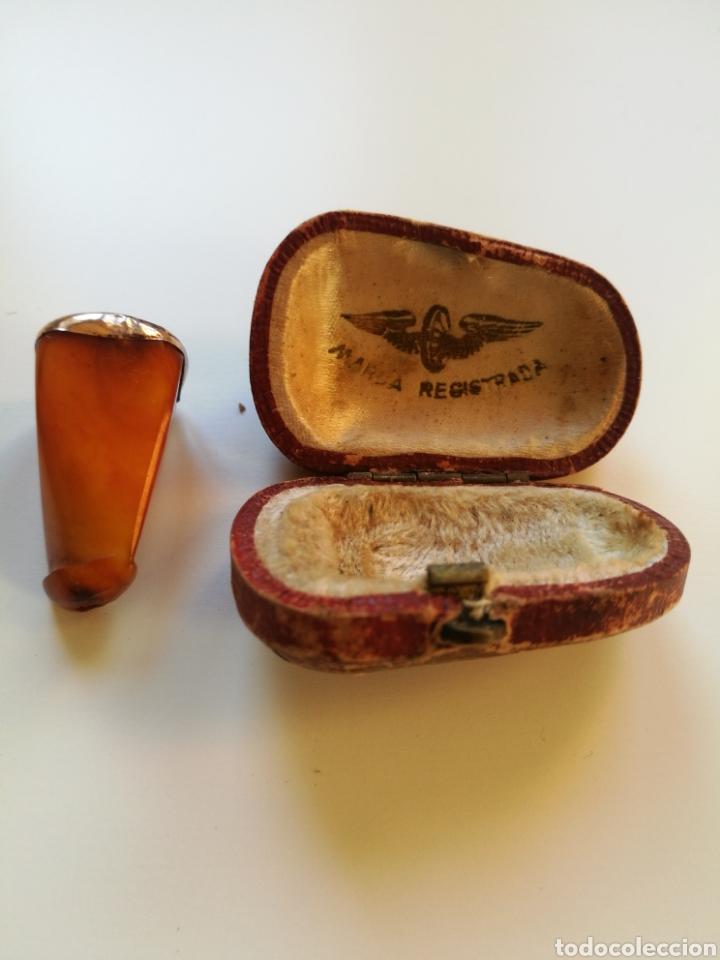 BOQUILLA AMBAR SIN USO PRINCIPIO DE SIGLOXX (Coleccionismo - Objetos para Fumar - Boquillas )