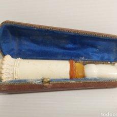 Boquillas de colección: ANTIGUA BOQUILLA EN SEPIOLITA, AMBAR Y MARFIL. Lote 211958808