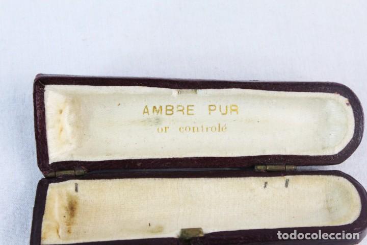 Boquillas de colección: Boquilla en ambar y oro 14kt. Francia ca 1890 - Boxed cigarette holder amber, 14kt gold - Foto 4 - 222659575