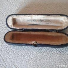 Boquillas de colección: ANTIGUO ESTUCHE PARA BOQUILLA AMBAR LEGITIMA. Lote 225748950