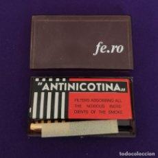 Boquillas de colección: BOQUILLA ANTINICOTINA FE.RO CON 10 FILTROS. EN SU ESTUCHE ORIGINAL. SIN USAR. TABACO.. Lote 226047432