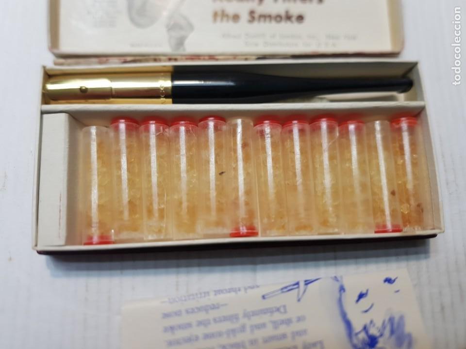 Boquillas de colección: Antigua boquilla Alfred Dunhill Lady De-Nicotea Señora Negra en caja original muy difícil - Foto 2 - 240498440