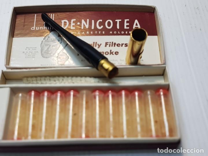 Boquillas de colección: Antigua boquilla Alfred Dunhill Lady De-Nicotea Señora Negra en caja original muy difícil - Foto 3 - 240498440