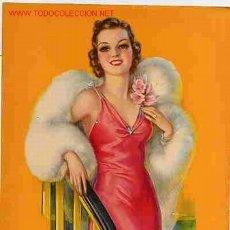 Coleccionismo de carteles: CARTELITO CHICA PIN UP Nº 6. Lote 22903795