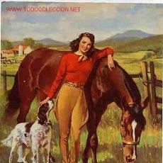 Coleccionismo de carteles: CARTELITO CHICA PIN UP Nº 9 CON ANIMALES. Lote 81943192