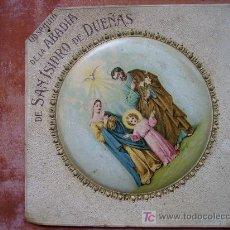 Coleccionismo de carteles: OBSEQUIO DE LA ABADIA DE SAN ISIDRO DE DUEÑAS,TROQUELADO, EN CARTON 20CMX20. Lote 27597880