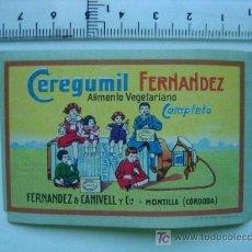 Coleccionismo de carteles: CEREGUMIL FERNANDEZ - ALIMETO VEGETARIANO COMPLETO - MONTILLA (CORDOBA). Lote 101968755