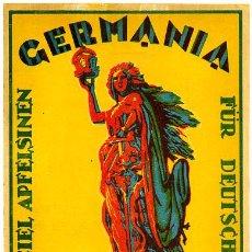 Coleccionismo de carteles: GRAN ETIQUETA CARTEL ITO NARANJAS GERMANIA CASTELLON GRANDE ORIGINAL. Lote 254700930