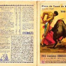 Coleccionismo de carteles: PROGRAMA TOROS FALLAS 1957. Lote 6743361